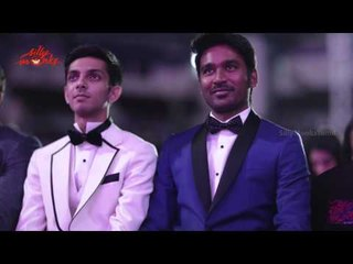 Dhanush , Anirudh Ravichander , Bobby Simha, Catherine Tresa @ 62nd Filmfare Award Night