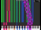 [Black MIDI] NES Style - Red Zone Reconstruction - Piano From Above