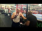 TMT KO puncher Lanell Bellows at mayweather boxing club EsNews Boxing