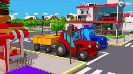 Kids Tractor - Cartoon Video For Children - Tractors For Kids
