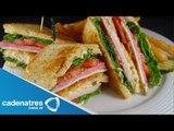 Receta Club Sándwich / Cómo preparar un club sándwich