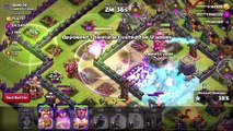 CLASH OF CLANS - VALKYRIE LVL 5 / JUMP SPELLS vs. TH11 (New Update Changes and Level 5)