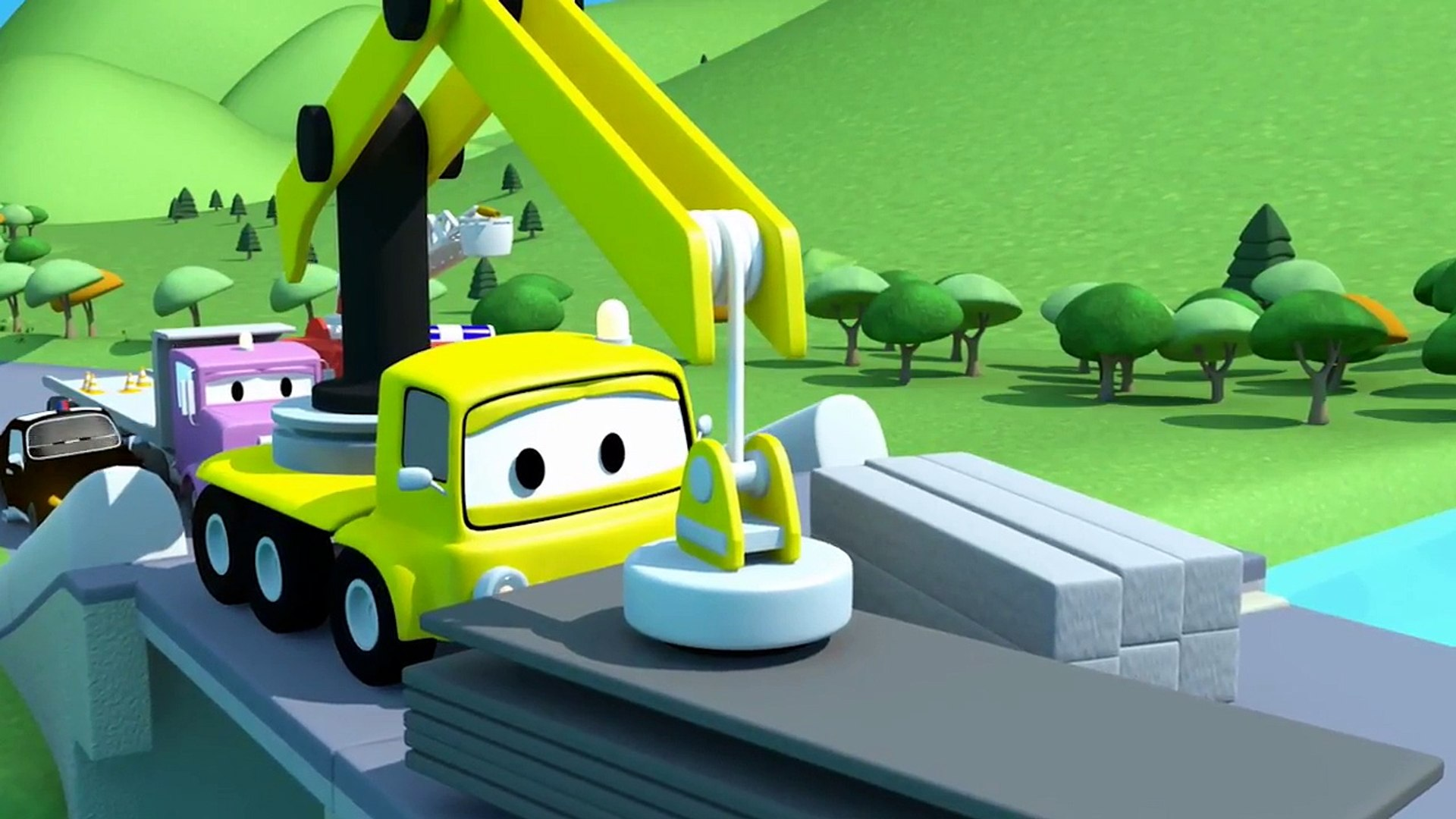 Sticky Mud !! The Car Patrol  Fire Truck and Police Car in Car City | Cartoon Car for children