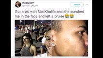 What Mia Khalifa Did With A fan Who Was Taking Her Picture