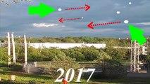 OVNI De multiples sphères lumineuses dans le ciel de Cowansville au Québec le 22 Juin 2017