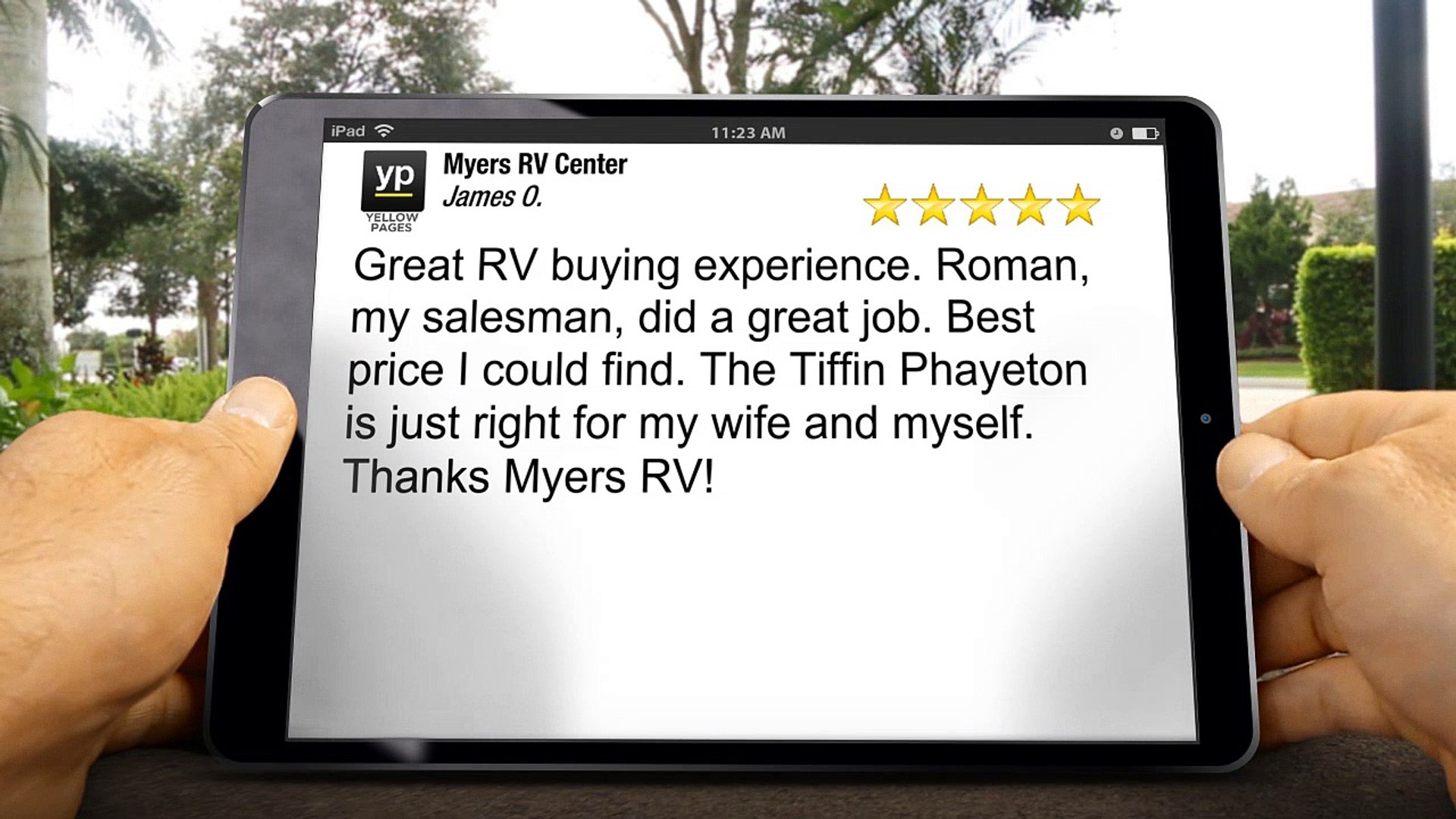 Myers RV Center Albuquerque Exceptional Five Star Review by James O.