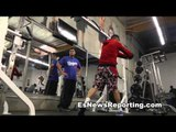 marcos maidana in killer shape working with cicilio flores EsNews Boxing