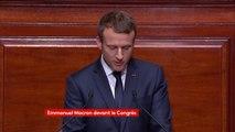 """""""Il faut de manière coordonnée en Europe (...) accueillir les réfugiés politiques qui courent un risque réel"""", Macron #CongresVersailles"""