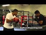 mikey garcia and robert garcia working mitts - EsNews Boxing