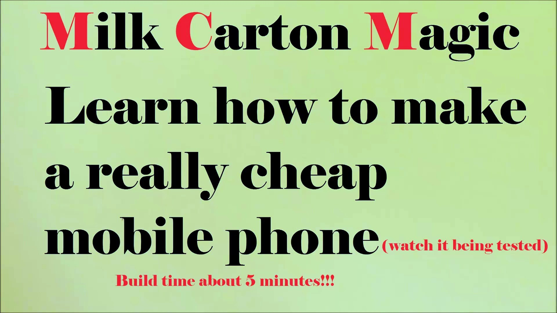 Make a cheap mobile phone WITHOUT batteries
