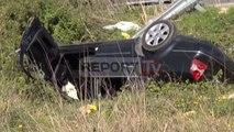 Report TV - Përplasen dy makina në aksin Lezhë-Shkodër, dy të plagosur