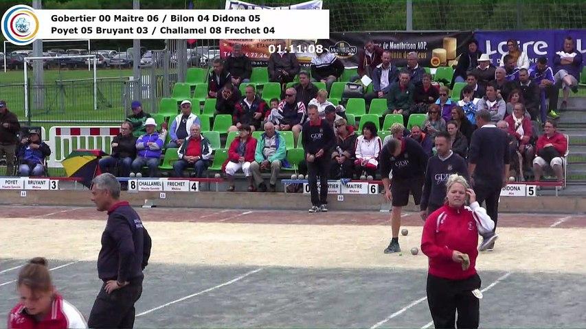 Barrages M1, Sport Boules, France Doubles, Feurs 2017