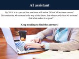 What an AI Assistant Will Mean For the Future- Meet Sally