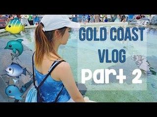 GOLD COAST VLOG PART 2   Dreamworld AND SeaWorld!!