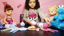 Vivant bébé manger jouer avec Jeux bébé filles mangent des jeux dargile Clive thé jouet cuisine doh t