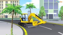JCB Bulldozer & JCB Excavator Digging with Dump Truck in the City + 1 Hour Kids Video Compilation