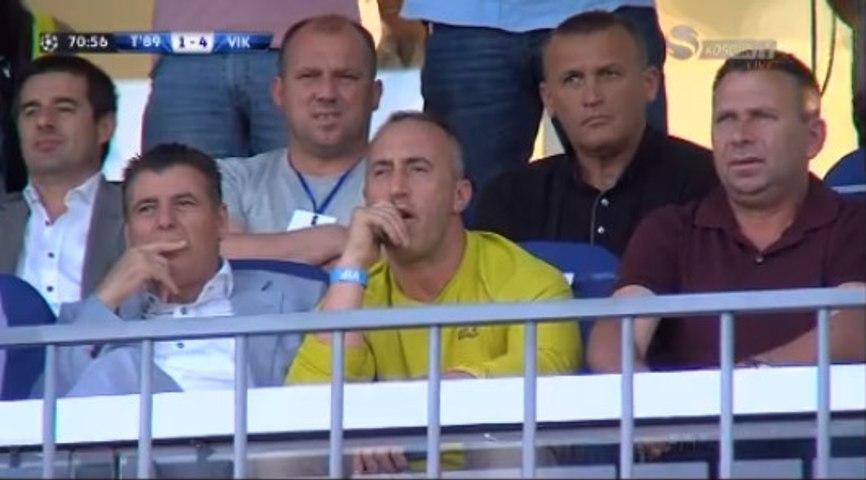 Ramush Haradinaj shikon lojen i merzitur nga 4 gollat e skuadres kundershatre !!!