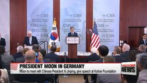 President Moon Jae-in leaves for Germany for G20 summit