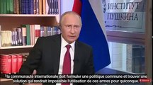 Interview de Poutine  avec sous titres  sur Macron, Trump, l'Ukraine, la Syrie et la Russie