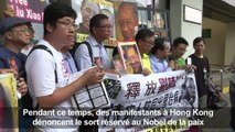 Hong Kong: des manifestants envoient des lettres à Liu Xiaobo