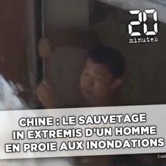 Chine : Le sauvetage in extremis d'un homme coincé dans un parking souterrain