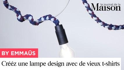 Créez une lampe design avec de vieux tee-shirts