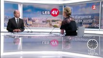 """Les 4 Vérités - """"Mettre fin à l'état d'urgence est une question de courage politique"""", assène Urvoas"""