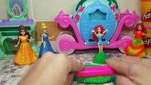 Vestidos moda pag jugar princesa Disney DOH magiclip princesa Disney creó los vestidos de bola