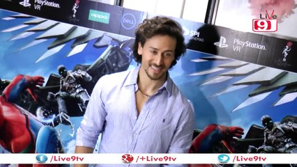The hunky Tiger Shroff at the film screening of Spiderman -The Homecoming