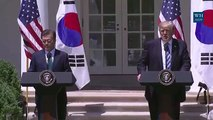 President Trump Sends Final Warning to North Korea | Full Press Conference w/ President Moon 6/30/1