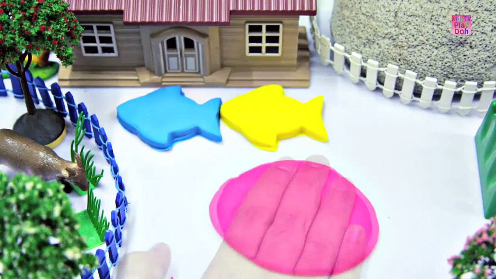 Learny Doh _ Play Doh Videos for Kids _ Kids Learning Videos  _ Play Doh Fish