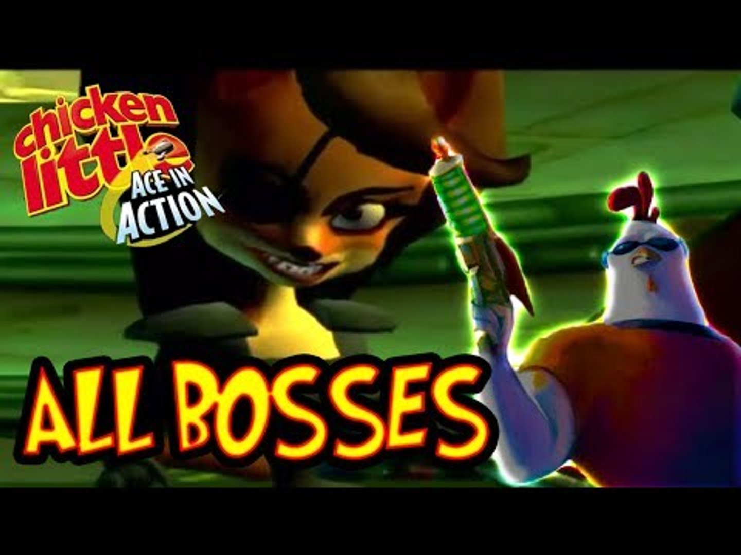 Chicken Little Ace in Action All Bosses | Final Boss (Wii, PS2)