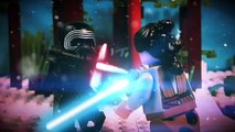LEGO Kylo Ren Vs Rey & Finn Lightsaber Battle Final Boss Fight Ending Star Wars The Force