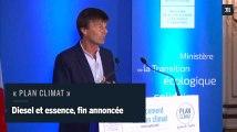 Nicolas Hulot annonce la fin des véhicules diesel et essence à l'horizon 2040