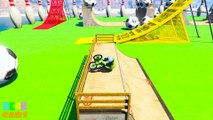 COLOR BMX Extreme Jump Racing with Superheroes! Cartoon for kids and babies
