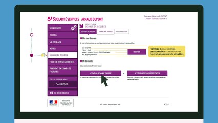 Faire sa demande de bourse avec FranceConnect