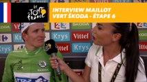 L'interview du maillot vert ŠKODA - Étape 6 - Tour de France 2017