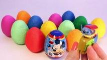 Des voitures des œufs souris porc jouer jouets Peppa surprise mickey doh minnie