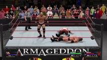 Armageddon 2003 Triple H vs Goldberg vs Kane WWE 2K17 simulation
