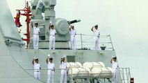 China's first aircraft carrier visits Hong Kong