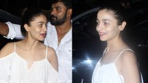 Alia Bhatt Snapped Post A Salon Session