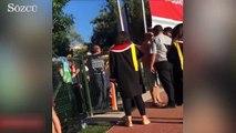 ODTÜ'de güvenlik görevlisi öğrenci yakınına kafa attı