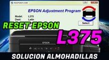 Reset EPSON L375 Solucion Almohadillas han llegado al final de su vida Util - 100 % Garantizado
