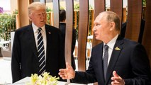 Trump Avoids Reporter's Election Meddling Question During Putin Meeting | THR News