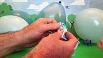 12 SURPRISE BALLOONS! Fun toys get popped from Balloons Handy Manny, Thomas and Friends, a
