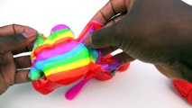 Apprendre les couleurs bricolage Comment à faire vase argile gelée monstre géant seringue jouet jouer