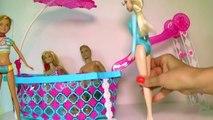 Et journée voyage de noces dans piscine la natation mariage Barbie ken barbies barbie barbies