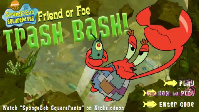 SpongeBob SquarePants Friend Or Foe Trash Bash! Level 3 WalkThrough - Playing As Mr. Krabs