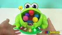 A B C y colores contando para rana risilla Niños Aprender números camarada estanque popular preescolar juguetes Surpr