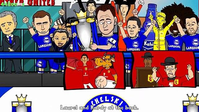 CHELSEA FC CHAMPIONS 2015 (Mourinho TROLLS the LEAGUE! cartoon premier league title 14-15)